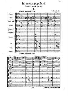 Suite No.3 'In modo populari', Op.43: Partitura completa by César Cui
