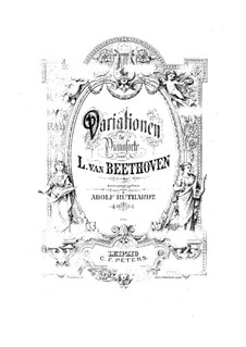 Twenty-Four Variations on Arietta 'Venni Amore' by Righini, WoO 65: Para Piano by Ludwig van Beethoven