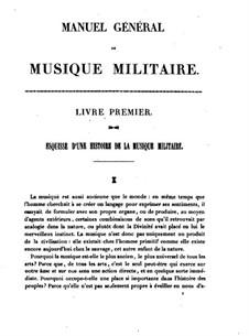 Manuel Général de Musique Militaire à l'Usage des Armees Françaises: Livre I by Jean-Georges Kastner