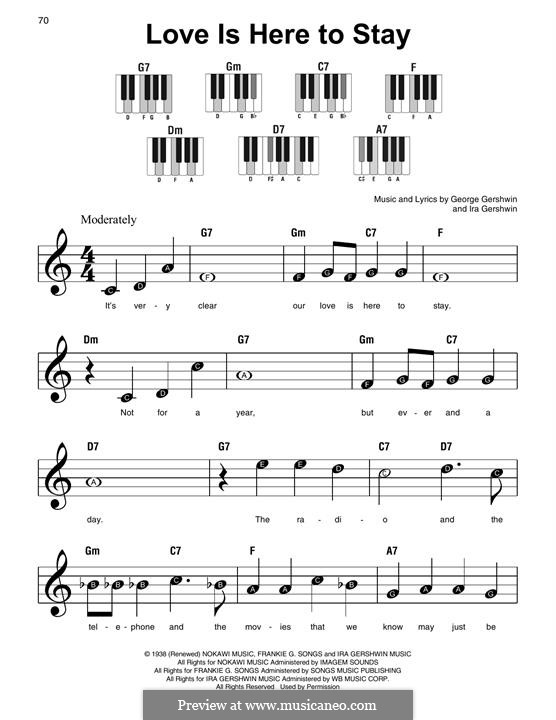 Love is Here to Stay: Para Piano by George Gershwin