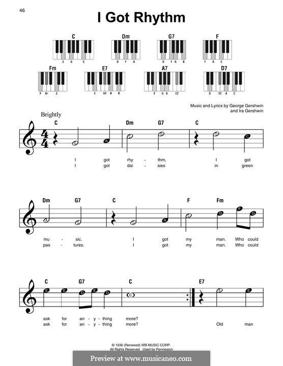 I Got Rhythm: Para Piano by George Gershwin