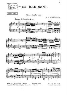 En Badinant: Piano conductor by Alfredo D'Ambrosio