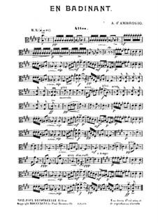En Badinant: parte viola by Alfredo D'Ambrosio