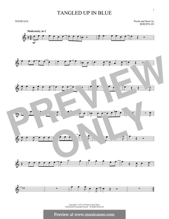 Tangled Up in Blue: para saxofone tenor by Bob Dylan
