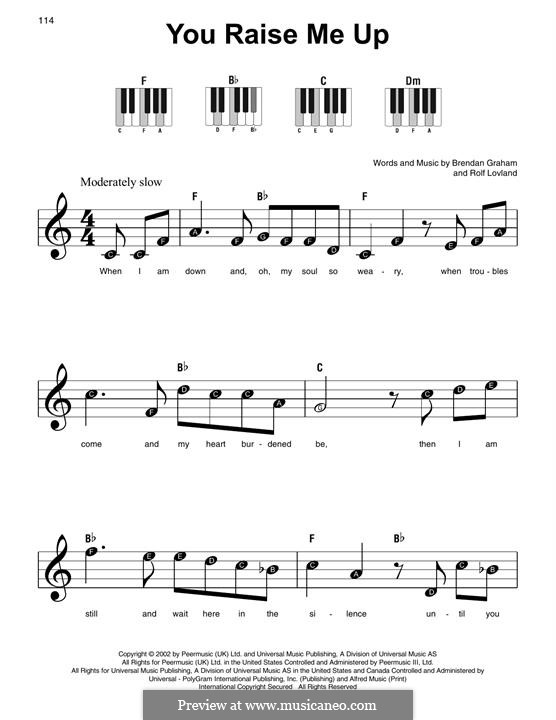You Raise Me Up, for Piano: Versão Facil by Brendan Graham, Rolf Løvland