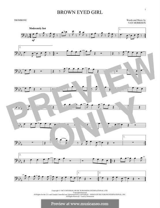 Brown Eyed Girl: para trombone by Van Morrison
