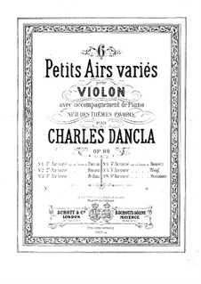 Six airs variés, Op.89: No.3 Aria with Variations by Bellini by Charles Dancla