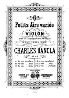 Six airs variés, Op.89: No.5 Aria with Variations by Weigl by Charles Dancla