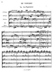 Harpsichord Concerto No.3 in C Minor, RCT 9: arranjos para sexceto de cordas by Jean-Philippe Rameau