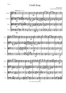 Cradle Song: para quartetos de cordas by William Byrd