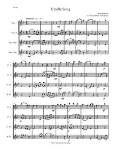 Cradle Song: para quarteto de flauta by William Byrd