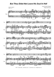 No.32 But thou didst not leave his soul in Hell: para viola e piano by Georg Friedrich Händel
