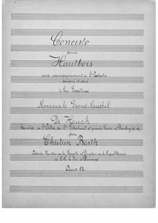 Concerto for Oboe and Orchestra, Op.12: Concerto for Oboe and Orchestra by Christian Frederik Barth