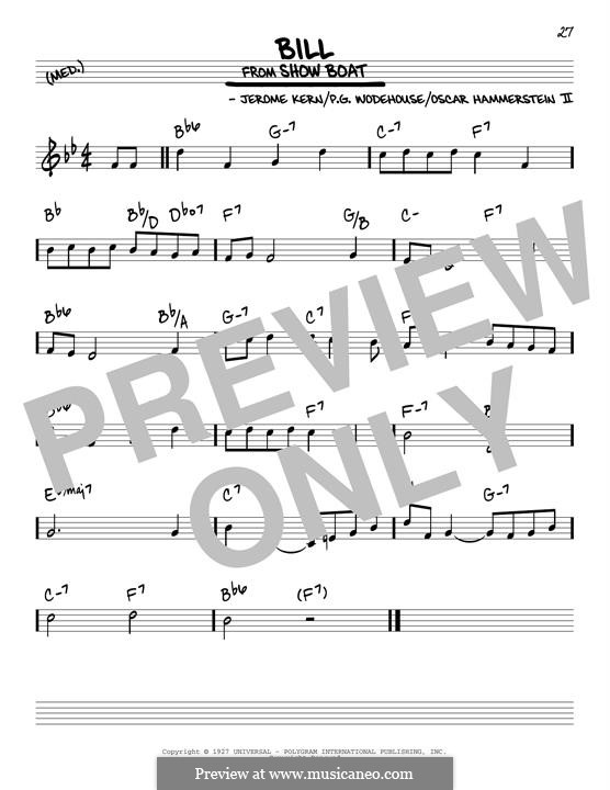 Bill: Para Guitarra by Jerome Kern