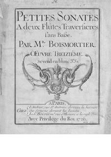 Twelve Sonatas for Two Flutes, Op.3: Twelve Sonatas for Two Flutes by Joseph Bodin de Boismortier