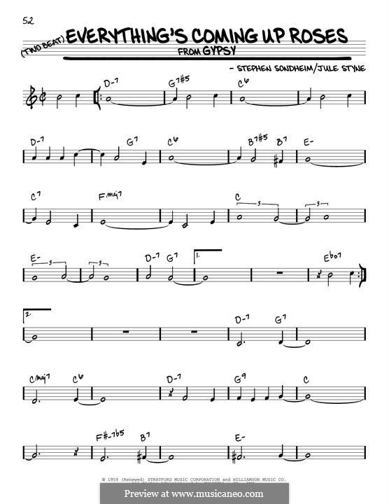 Everything's Coming Up Roses: Para Guitarra by Jule Styne, Stephen Sondheim