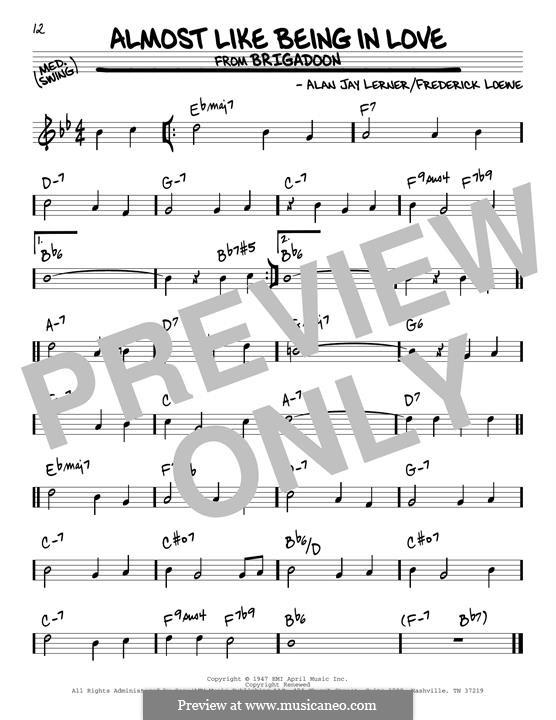 Almost Like Being in Love: Para Guitarra by Frederick Loewe
