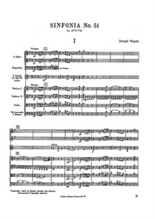 Symphony No.51 in B Flat Major, Hob.I/51: Symphony No.51 in B Flat Major by Joseph Haydn