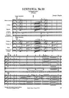 Symphony No.53 in D Major 'L'Impériale', Hob.I/53: partitura completa by Joseph Haydn