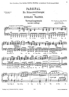 Transformation Music: arranjo para piano by Richard Wagner