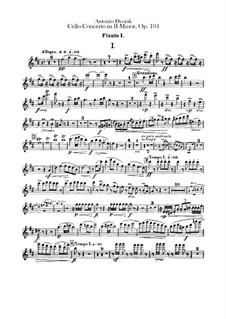 Concerto for Cello and Orchestra in B Minor, B.191 Op.104: parte de flautas by Antonín Dvořák