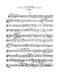 Concerto for Cello and Orchestra in B Minor, B.191 Op.104: parte trompa by Antonín Dvořák
