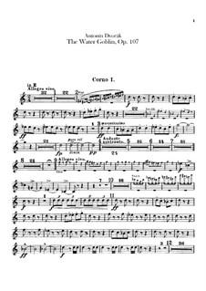 Vodník (The Water Goblin), B.195 Op.107: parte trompa by Antonín Dvořák