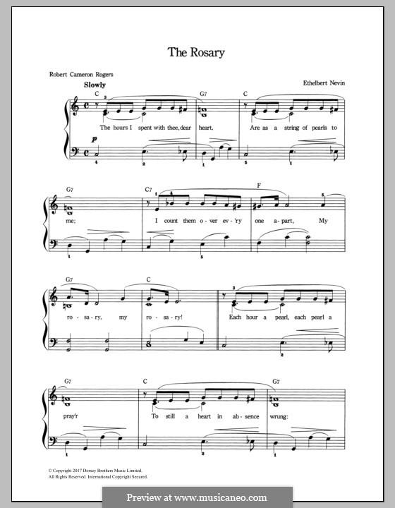 The Rosary (Le chapelet): Para vocais e piano by Ethelbert Woodbridge Nevin
