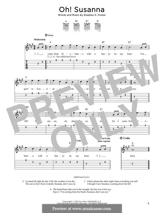 Oh! Susanna: Para Guitarra by Stephen Collins Foster