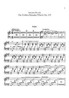 Zlatý kolovrat (The Golden Spinning Wheel), B.197 Op.109: parte harpa by Antonín Dvořák