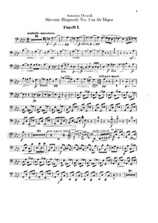 Rhapsody No.3 in A Flat Major: parte fagotes by Antonín Dvořák