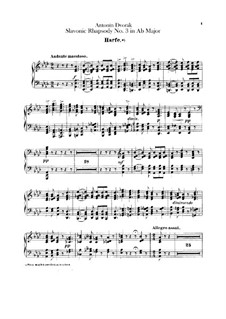 Rhapsody No.3 in A Flat Major: parte harpa by Antonín Dvořák