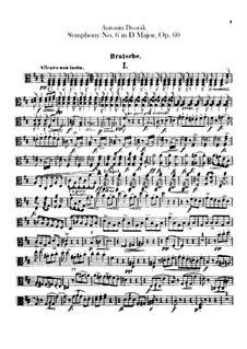 Symphony No.6 in D Major, B.112 Op.60: parte viola by Antonín Dvořák