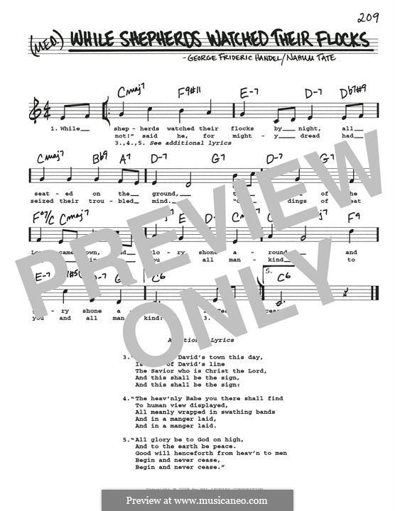 While Shepherds Watched Their Flocks: Para Guitarra by Georg Friedrich Händel