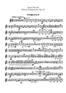 Scherzo Capriccioso, B.131 Op.66: parte trompetas by Antonín Dvořák