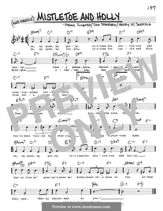Mistletoe and Holly (Frank Sinatra): Para Guitarra by Dok Stanford, Henry W. Sanicola