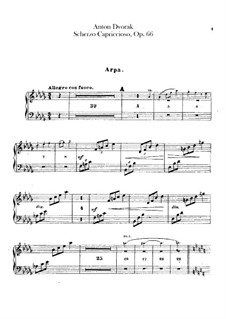 Scherzo Capriccioso, B.131 Op.66: parte harpa by Antonín Dvořák