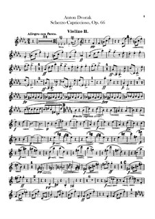 Scherzo Capriccioso, B.131 Op.66: violino parte II by Antonín Dvořák