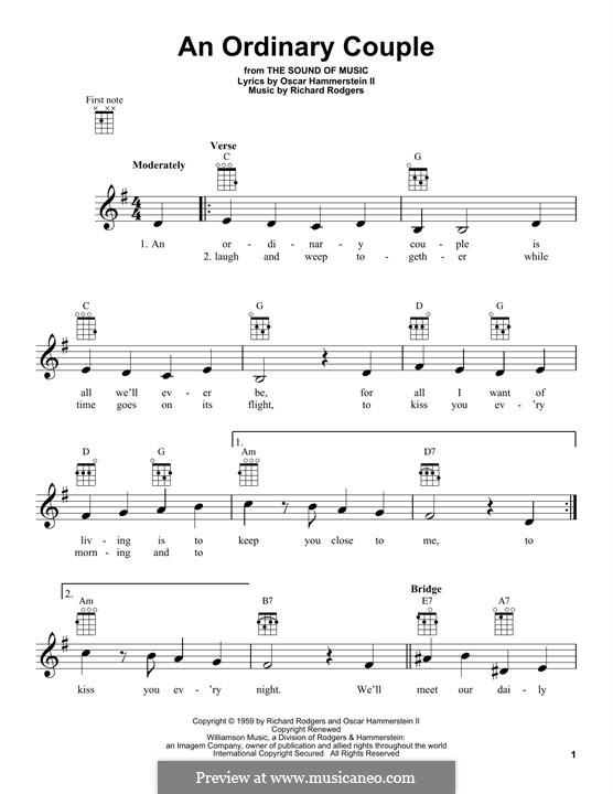An Ordinary Couple (from The Sound of Music): para ukulele by Richard Rodgers