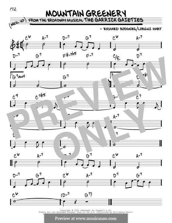Mountain Greenery: Para Guitarra by Richard Rodgers