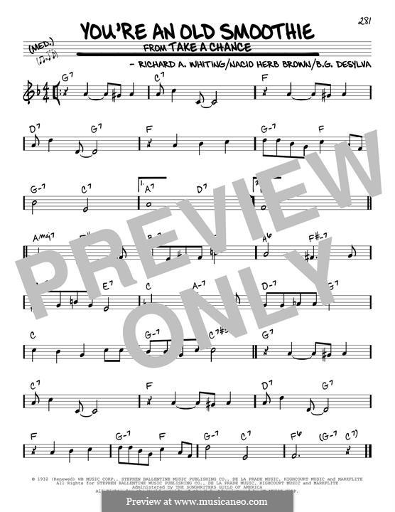 You're an Old Smoothie (Ethel Merman): Para Guitarra by Buddy Gard DeSylva, Richard A. Whiting, Nacio Herb Brown