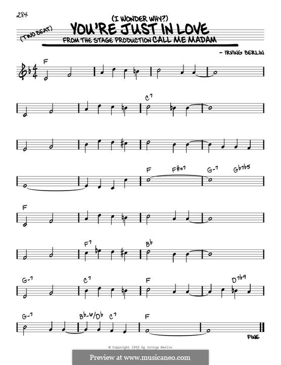 (I Wonder Why?) You're Just in Love: Para Guitarra by Irving Berlin