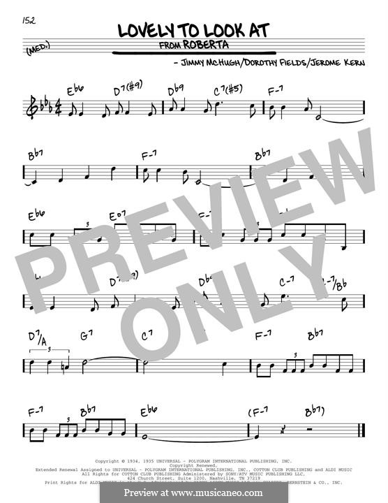 Lovely to Look at: Para Guitarra by Jerome Kern, Jimmy McHugh, Dorothy Fields