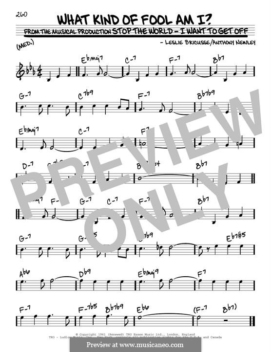What Kind of Fool am I: Para Guitarra by Anthony Newley, Leslie Bricusse