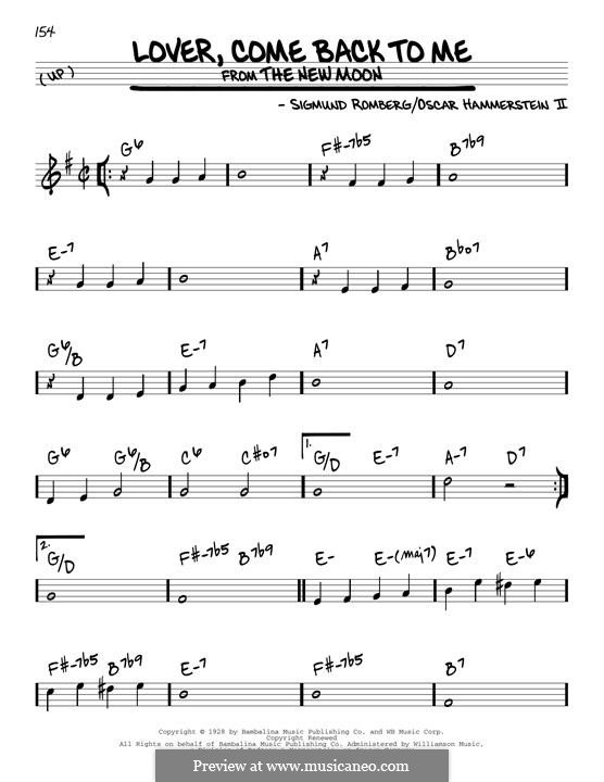 Lover, Come Back to Me (from New Moon): Para Guitarra by Sigmund Romberg