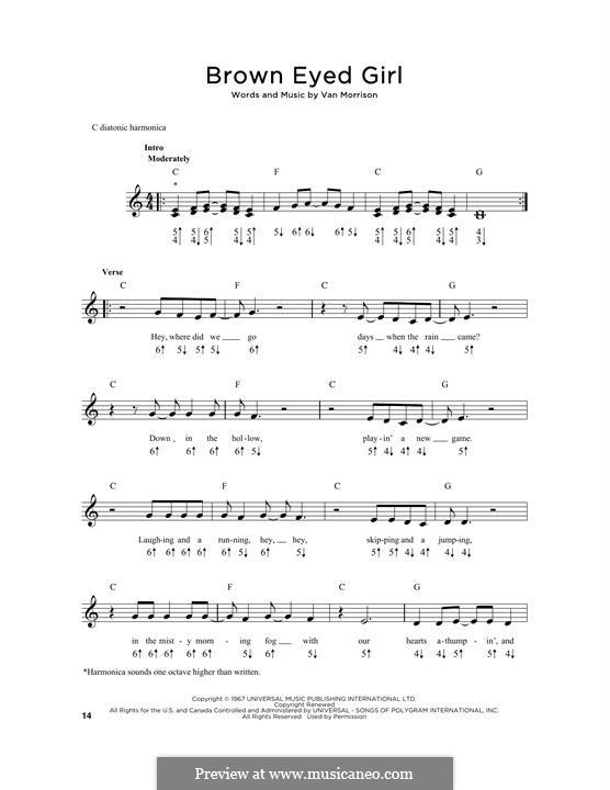 Brown Eyed Girl: For harmonica by Van Morrison