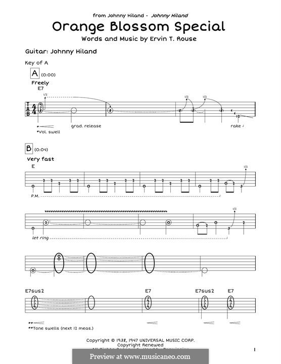 Orange Blossom Special: Para Guitarra by Johnny Cash