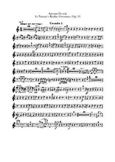 V přírodě (In Nature's Realm), B.168 Op.91: parte trompetas by Antonín Dvořák