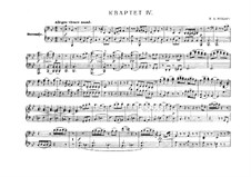 String Quartet No.17 in B Flat Major 'Hunt' , K.458: arranjos para piano de quatro mãos by Wolfgang Amadeus Mozart