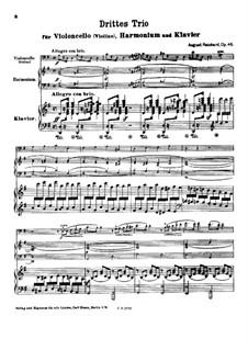 Trio No.3 for Cello (or Violin), Harmonium and Piano, Op.46: movimento I by August Reinhard